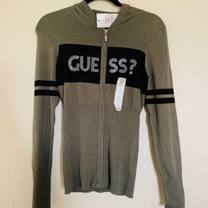 VINTAGE guess zip up sweater!